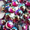 Acrylic Round Flat Back Rhinestones 20mm Fuchsia Aurora Borealis 200pcs/bag